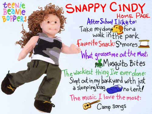 Snappy Cindy - Ty Teenie Boppers